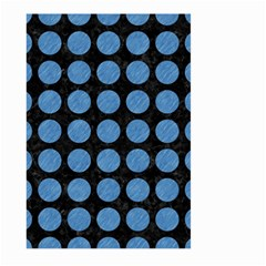 Circles1 Black Marble & Blue Colored Pencil Large Garden Flag (two Sides) by trendistuff