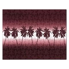 Tropical Sunset Rectangular Jigsaw Puzzl by Valentinaart