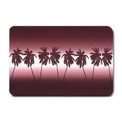 Tropical Sunset Small Doormat  by Valentinaart