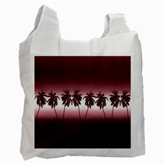 Tropical Sunset Recycle Bag (two Side)  by Valentinaart