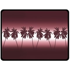 Tropical Sunset Double Sided Fleece Blanket (large)  by Valentinaart