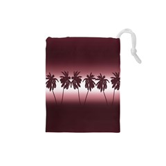Tropical Sunset Drawstring Pouches (small)  by Valentinaart