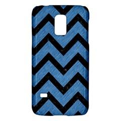 Chevron9 Black Marble & Blue Colored Pencil (r) Samsung Galaxy S5 Mini Hardshell Case  by trendistuff