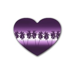Tropical Sunset Heart Coaster (4 Pack)  by Valentinaart