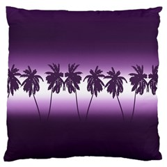 Tropical Sunset Large Flano Cushion Case (one Side) by Valentinaart