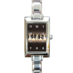Tropical Sunset Rectangle Italian Charm Watch by Valentinaart
