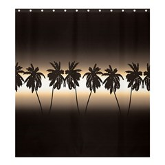 Tropical Sunset Shower Curtain 66  X 72  (large)  by Valentinaart