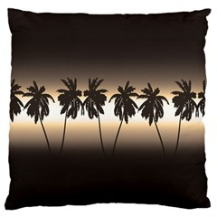 Tropical Sunset Large Cushion Case (one Side) by Valentinaart