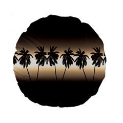 Tropical Sunset Standard 15  Premium Round Cushions by Valentinaart