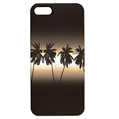 Tropical Sunset Apple Iphone 5 Hardshell Case With Stand by Valentinaart