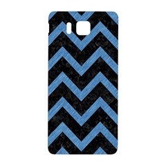 Chevron9 Black Marble & Blue Colored Pencil Samsung Galaxy Alpha Hardshell Back Case by trendistuff