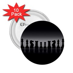 Chess Pieces 2 25  Buttons (10 Pack)  by Valentinaart