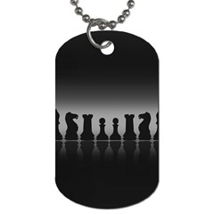 Chess Pieces Dog Tag (two Sides) by Valentinaart