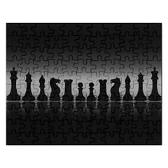 Chess Pieces Rectangular Jigsaw Puzzl by Valentinaart
