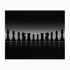 Chess Pieces Small Glasses Cloth by Valentinaart