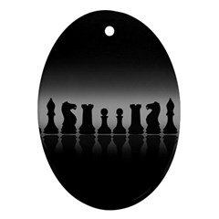 Chess Pieces Oval Ornament (two Sides) by Valentinaart