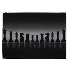 Chess Pieces Cosmetic Bag (xxl)  by Valentinaart