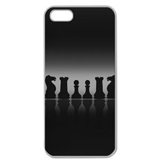 Chess Pieces Apple Seamless Iphone 5 Case (clear) by Valentinaart