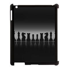 Chess Pieces Apple Ipad 3/4 Case (black) by Valentinaart