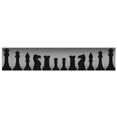 Chess Pieces Flano Scarf (small) by Valentinaart