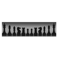 Chess Pieces Satin Scarf (oblong) by Valentinaart