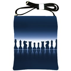 Chess Pieces Shoulder Sling Bags by Valentinaart