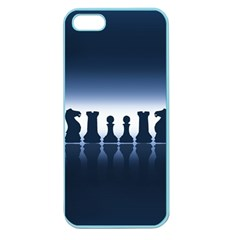 Chess Pieces Apple Seamless Iphone 5 Case (color) by Valentinaart