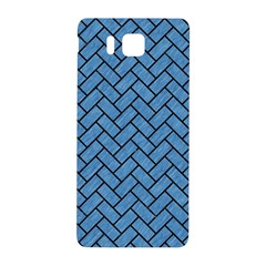Brick2 Black Marble & Blue Colored Pencil (r) Samsung Galaxy Alpha Hardshell Back Case by trendistuff