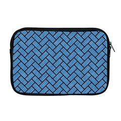 Brick2 Black Marble & Blue Colored Pencil (r) Apple Macbook Pro 17  Zipper Case by trendistuff