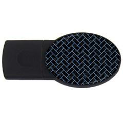 Brick2 Black Marble & Blue Colored Pencil Usb Flash Drive Oval (4 Gb) by trendistuff