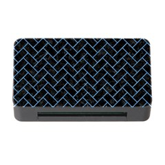 Brick2 Black Marble & Blue Colored Pencil Memory Card Reader With Cf by trendistuff
