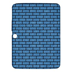 Brick1 Black Marble & Blue Colored Pencil (r) Samsung Galaxy Tab 3 (10 1 ) P5200 Hardshell Case  by trendistuff