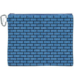 Brick1 Black Marble & Blue Colored Pencil (r) Canvas Cosmetic Bag (xxxl) by trendistuff