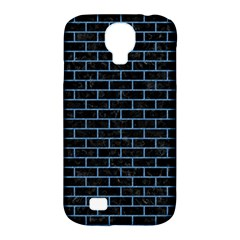 Brick1 Black Marble & Blue Colored Pencil Samsung Galaxy S4 Classic Hardshell Case (pc+silicone) by trendistuff