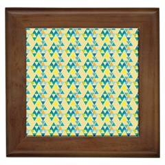 Colorful Triangle Pattern Framed Tiles by berwies