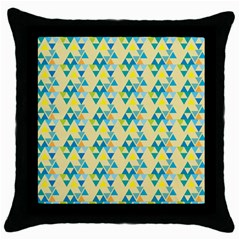 Colorful Triangle Pattern Throw Pillow Case (black) by berwies