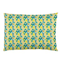 Colorful Triangle Pattern Pillow Case by berwies
