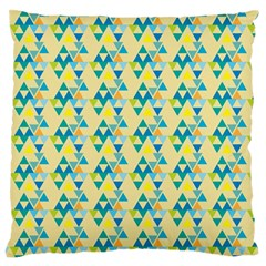 Colorful Triangle Pattern Large Flano Cushion Case (one Side) by berwies