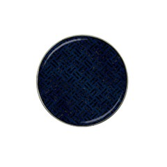 Woven2 Black Marble & Blue Grunge (r) Hat Clip Ball Marker (10 Pack) by trendistuff