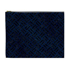 Woven2 Black Marble & Blue Grunge (r) Cosmetic Bag (xl) by trendistuff