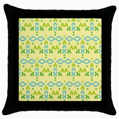 Simple Tribal Pattern Throw Pillow Case (black) by berwies