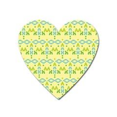 Simple Tribal Pattern Heart Magnet by berwies
