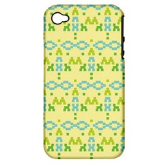 Simple Tribal Pattern Apple Iphone 4/4s Hardshell Case (pc+silicone) by berwies