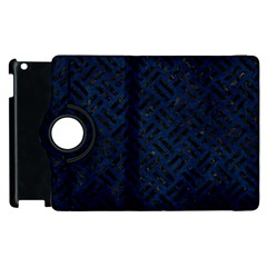Woven2 Black Marble & Blue Grunge (r) Apple Ipad 3/4 Flip 360 Case by trendistuff