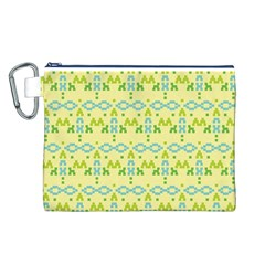 Simple Tribal Pattern Canvas Cosmetic Bag (l) by berwies