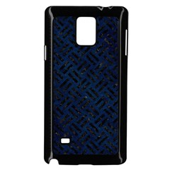 Woven2 Black Marble & Blue Grunge (r) Samsung Galaxy Note 4 Case (black) by trendistuff