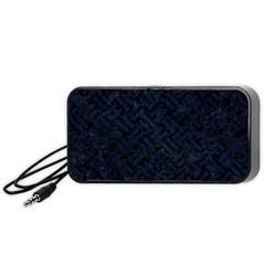 Woven2 Black Marble & Blue Grunge Portable Speaker (black) by trendistuff