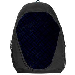 Woven2 Black Marble & Blue Grunge Backpack Bag by trendistuff