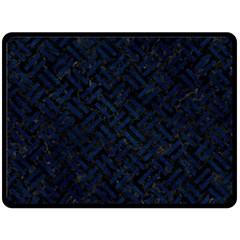 Woven2 Black Marble & Blue Grunge Double Sided Fleece Blanket (large) by trendistuff