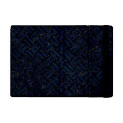 Woven2 Black Marble & Blue Grunge Apple Ipad Mini 2 Flip Case by trendistuff